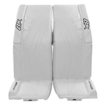 White/White (Brians GNETiK IV Goalie Leg Pads - Senior)