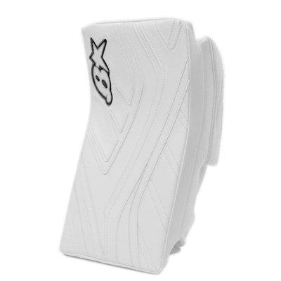 White/White (Brians GNETiK IV Goalie Blocker - Senior)