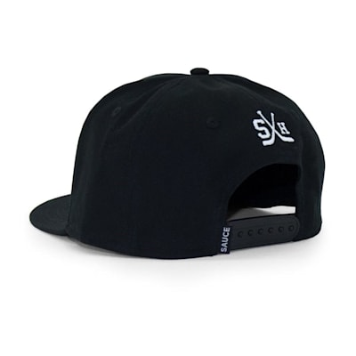 (Sauce Hockey Minnesota Flat Bill Cap - Black - Adult)