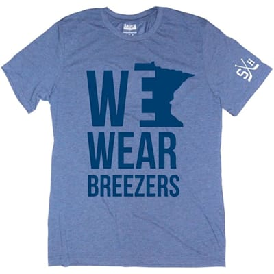 (Sauce Hockey Minnesota We Wear Breezers Tee Shirt - Adult)