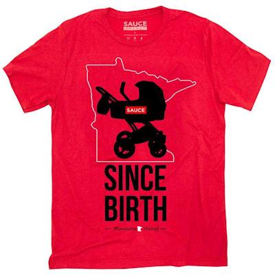 (Sauce Hockey Minnesota Since Birth Tee Shirt - Adult)