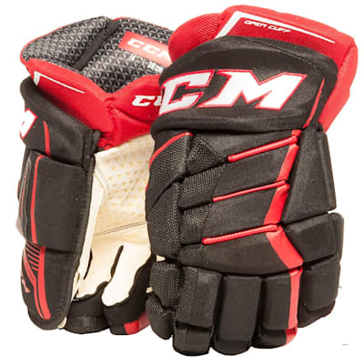 Black/Red/White (CCM JetSpeed Purelite Hockey Gloves - Senior)
