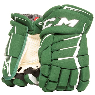 Dark Green/White (CCM JetSpeed Purelite Hockey Gloves - Senior)