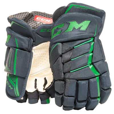 Navy/Kelly Green (CCM JetSpeed Purelite Hockey Gloves - Senior)