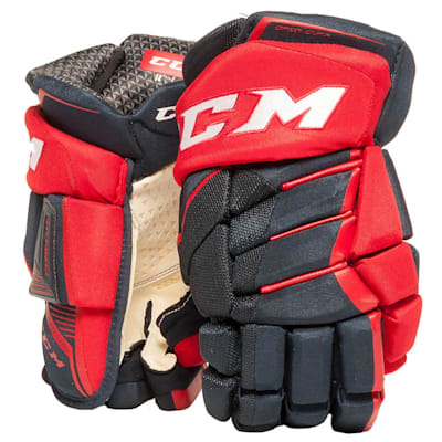 Navy/Red (CCM JetSpeed Purelite Hockey Gloves - Senior)