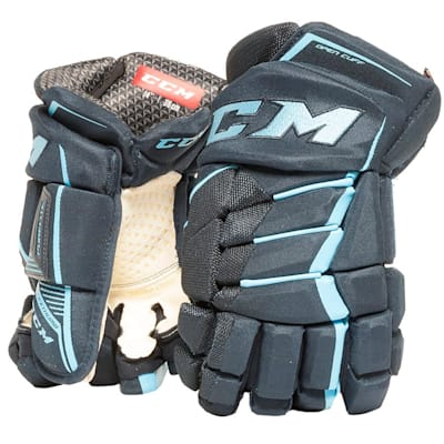 Navy/Carolina Blue (CCM JetSpeed Purelite Hockey Gloves - Senior)