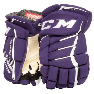 Purple/White (CCM JetSpeed Purelite Hockey Gloves - Senior)