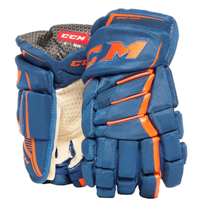 Royal/Orange (CCM JetSpeed Purelite Hockey Gloves - Senior)