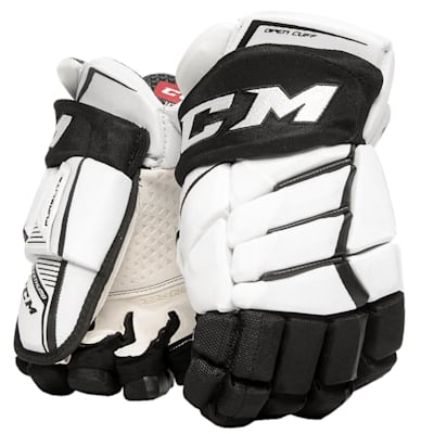 White/Black (CCM JetSpeed Purelite Hockey Gloves - Senior)