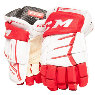 White/Red (CCM JetSpeed Purelite Hockey Gloves - Senior)