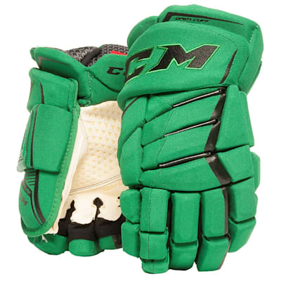 Green/Black (CCM JetSpeed Purelite Hockey Gloves - Senior)