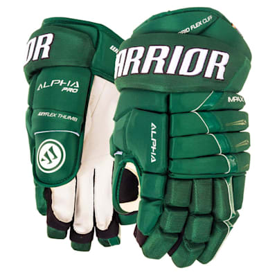 Forest Green (Warrior Alpha Pro Hockey Gloves - Junior)