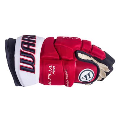 (Warrior Alpha Pro Hockey Gloves - 2019 - Senior)