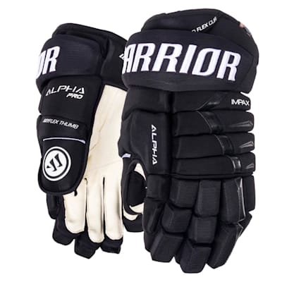 Black (Warrior Alpha Pro Hockey Gloves - 2019 - Senior)