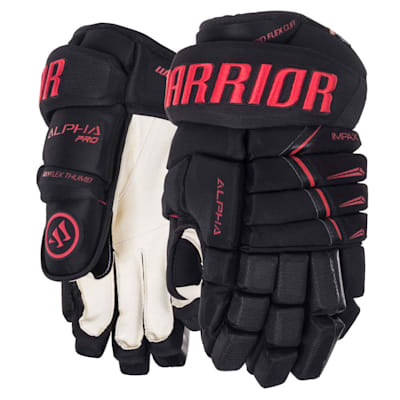 Black/Red (Warrior Alpha Pro Hockey Gloves - Senior)