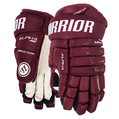Maroon (Warrior Alpha Pro Hockey Gloves - Senior)