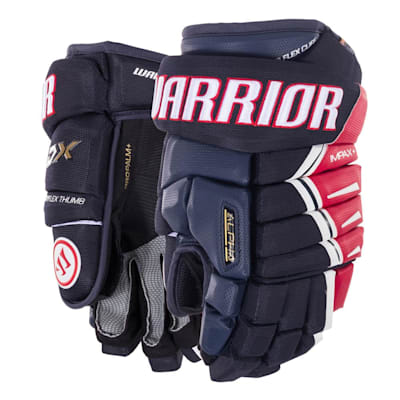 Navy/Red/White (Warrior Alpha DX Hockey Gloves - Senior)