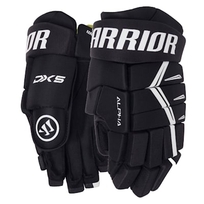 Black (Warrior Alpha DX5 Hockey Gloves - Junior)