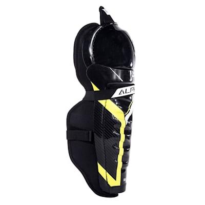(Warrior Alpha DX4 Hockey Shin Guards - Junior)