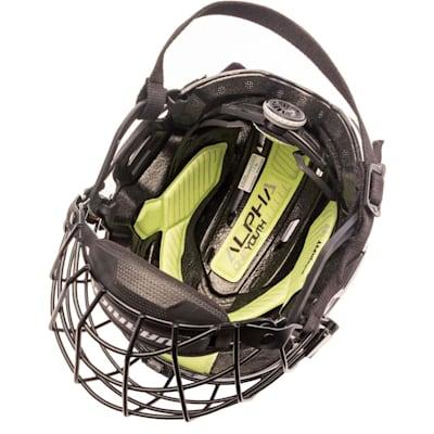(Warrior Alpha One Youth Combo Hockey Helmet)