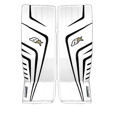 White/Black (Brians OPTiK 9.0 Goalie Leg Pads - Senior)