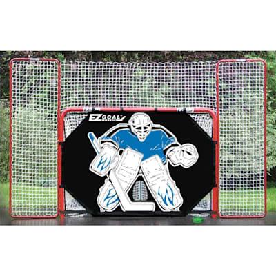 (Lightning Sports EZ Goal w/ Backstop & Shooter Tutor)