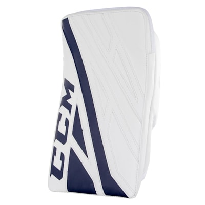 White/Navy (CCM Extreme Flex 4.5 Goalie Blocker - Junior)