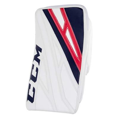 White/Navy/Red (CCM Extreme Flex 4.5 Goalie Blocker - Junior)