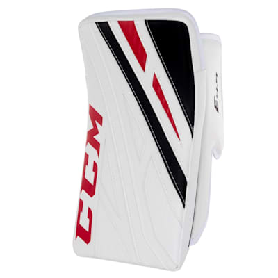 White/Black/Red (CCM Extreme Flex 4.9 Goalie Blocker - Intermediate)