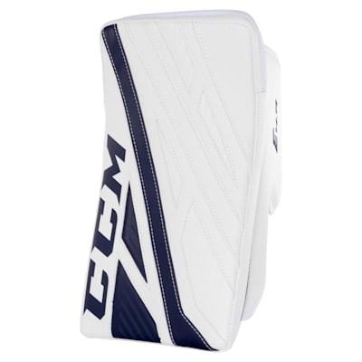 White/Navy (CCM Extreme Flex 4.9 Goalie Blocker - Intermediate)