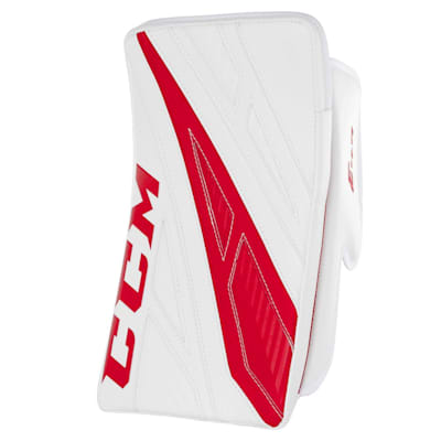 White/Red (CCM Extreme Flex 4.9 Goalie Blocker - Intermediate)