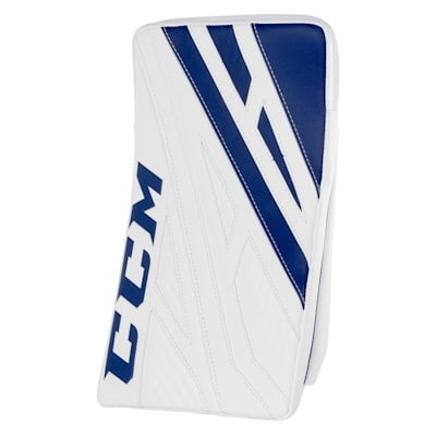 White/Royal (CCM Extreme Flex 4.9 Goalie Blocker - Intermediate)