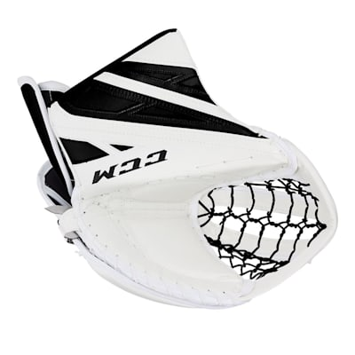 White/Black (CCM Extreme Flex 4.5 Goalie Glove - Junior)