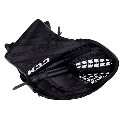Black/Black (CCM Extreme Flex 4.5 Goalie Glove - Junior)