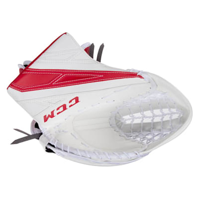 White/Red (CCM Extreme Flex 4.5 Goalie Glove - Junior)