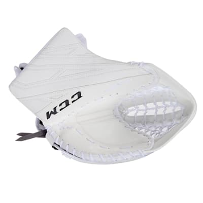 White/White (CCM Extreme Flex 4.5 Goalie Glove - Junior)
