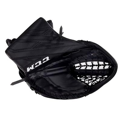 Black/Black (CCM Extreme Flex 4.5 Goalie Glove - Junior)