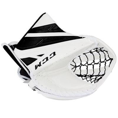 White/Black (CCM Extreme Flex 4.5 Goalie Glove - Junior)