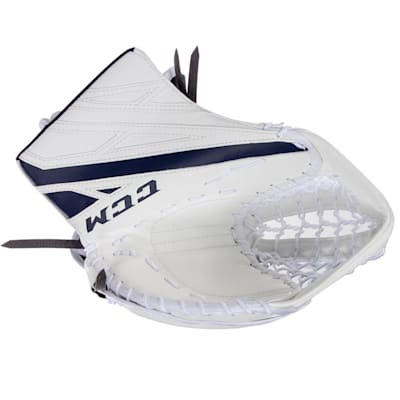 White/Navy (CCM Extreme Flex 4.5 Goalie Glove - Junior)