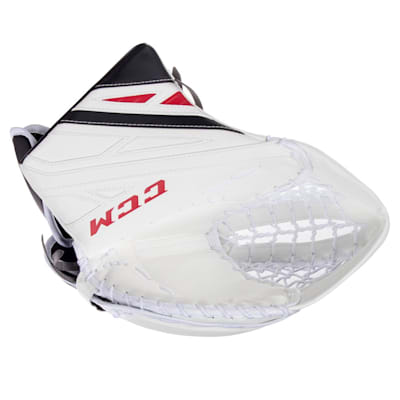 White/Black/Red (CCM Extreme Flex 4.9 Goalie Glove - Senior)
