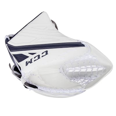 White/Navy (CCM Extreme Flex 4.9 Goalie Glove - Senior)