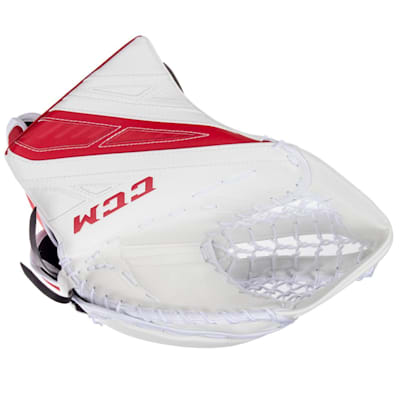 White/Red (CCM Extreme Flex 4.9 Goalie Glove - Senior)