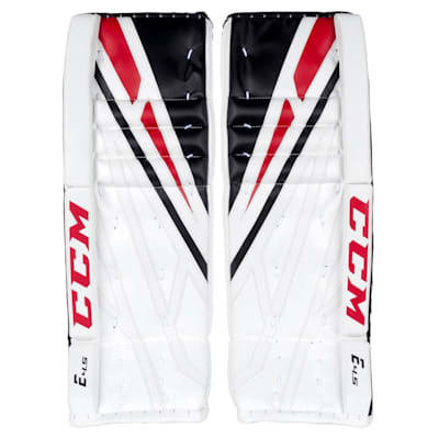 White/Black/Red (CCM Extreme Flex 4.5 Goalie Leg Pads - Junior)