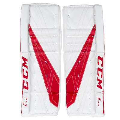 White/Red (CCM Extreme Flex 4.5 Goalie Leg Pads - Junior)