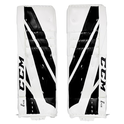 White/Black (CCM Extreme Flex 4.5 Goalie Leg Pads - Junior)