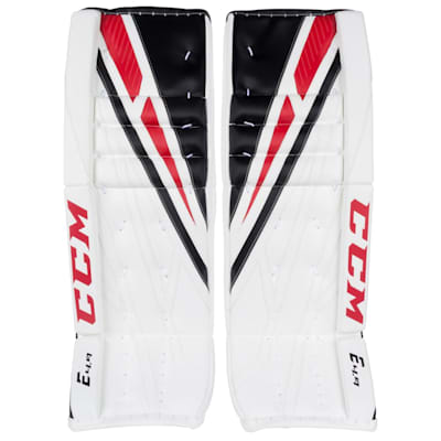 White/Black/Red (CCM Extreme Flex 4.9 Goalie Leg Pads - Intermediate)