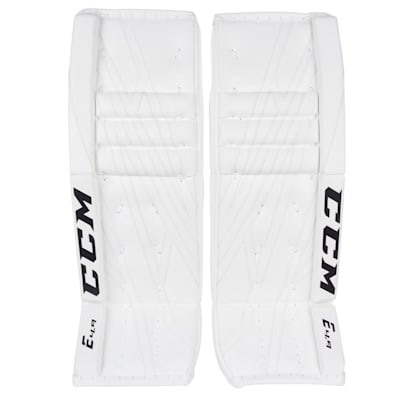 White/White (CCM Extreme Flex 4.9 Goalie Leg Pads - Intermediate)