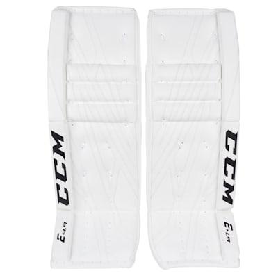 White/White (CCM Extreme Flex 4.9 Goalie Leg Pads - Senior)