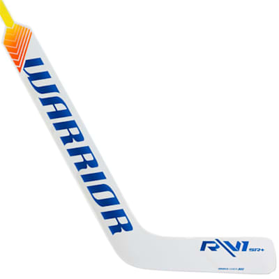 White/Royal (Warrior Ritual V1 SR+ Composite Goalie Stick - Intermediate)