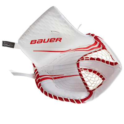 White/Red (Bauer Vapor 2X Pro Goalie Catch Glove - Senior)
